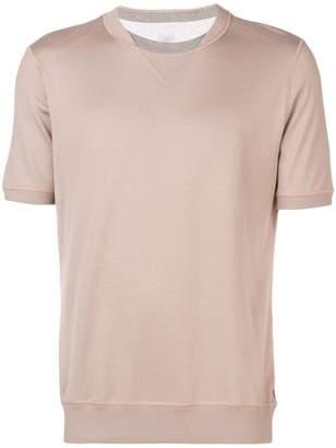 Eleventy two-tone collar T-shirt