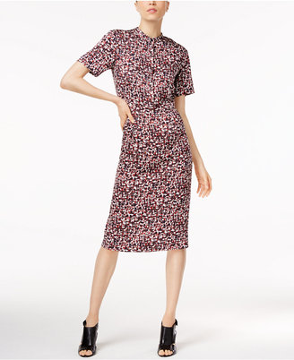 Dkny Printed Shirtdress $249 thestylecure.com