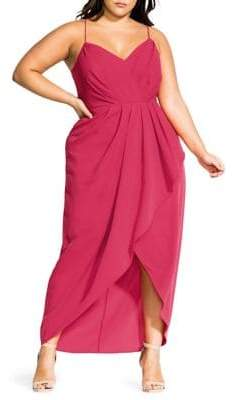 City Chic Plus Tango Ruffle Maxi Dress