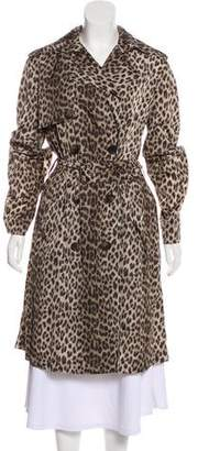 Lanvin Animal Print Trench Coat