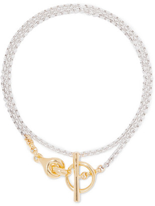 Charlotte Chesnais Halo Silver And Gold-tone Necklace