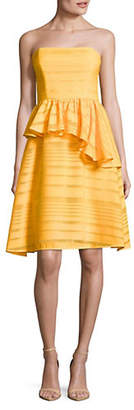 Halston H Strapless Peplum Dress