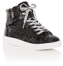 Michael Kors Girls' Ivy Bleu Glitter High-Top Sneakers - Toddler, Little Kid, Big Kid