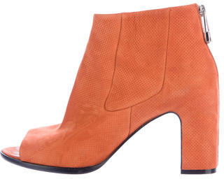 Balenciaga Balenciaga Perforated Peep-Toe Ankle Boots