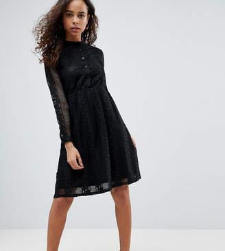Yumi Petite Lace Shirt Dress