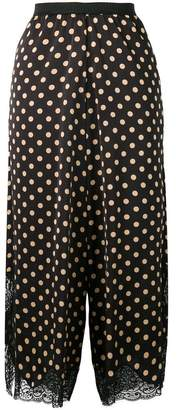 Antonio Marras cropped polka dot palazzo pants