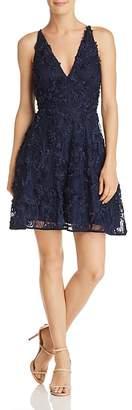 Aqua Floral Appliqué Dress - 100% Exclusive