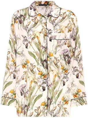 Alexander McQueen Floral-printed silk shirt