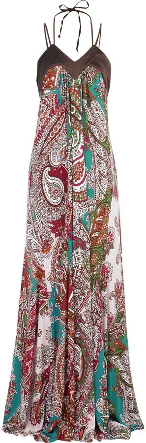Just Cavalli Paisley print maxi dress