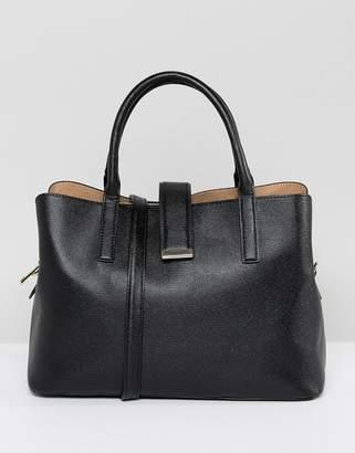Asos Design DESIGN soft pinch lock tote bag