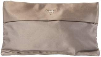 Prada Grey Cotton Clutch Bag