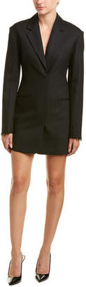 Helmut Lang Blazer Wool-Blend Shift Dress