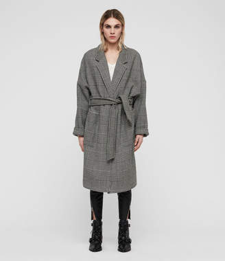 AllSaints Lara Check Coat