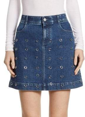 Peserico O-Ring Embellished High Waist Skirt