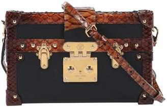 Louis Vuitton Petit Malle Black Python Clutch Bag
