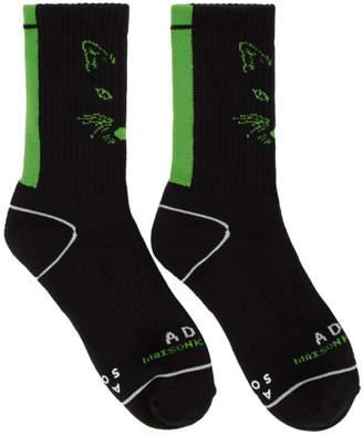 MAISON KITSUNÉ Black ADER error Edition Fox Socks