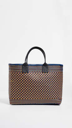 Truss Large Tote with Leather Handle