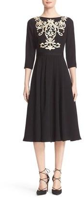 Women's Ted Baker London Shamari Embroidered Midi Dress $335 thestylecure.com