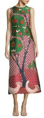 RED ValentinoRED Valentino Jacquard Landscape Amarena Midi Dress