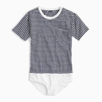 J.Crew Pocket T-shirt bodysuit in stripe