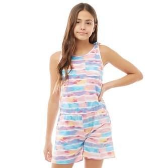 53a13052ecf Board Angels Girls Tie Dye Effect Playsuit Multi