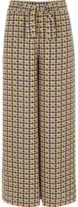 River Island Girls brown dogtooth check wide leg trousers