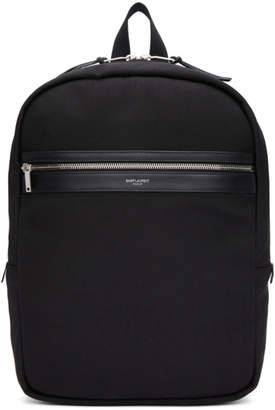 Saint Laurent Black City Laptop Backpack