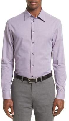 Armani Collezioni Regular Fit Houndstooth Sport Shirt