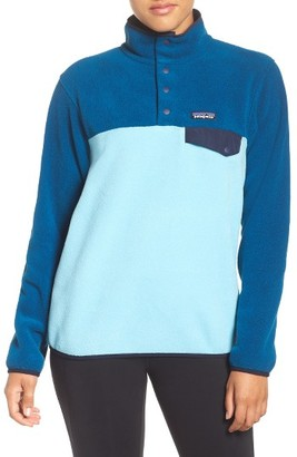 Women's Patagonia 'Synchilla' Fleece Pullover $99 thestylecure.com