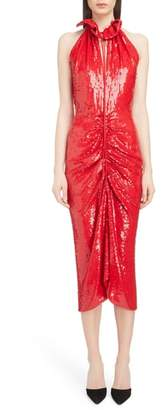 Magda Butrym Ruched Sequin Sheath Dress