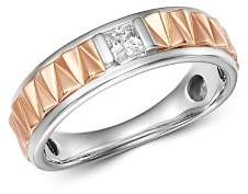 Bloomingdale's Diamond Men's Band Ring in 14K White Gold & 14K Rose Gold, 0.25 ct. t.w. - 100% Exclusive