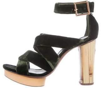 467aad5ec5f Tory Burch Velvet Multistrap Sandals