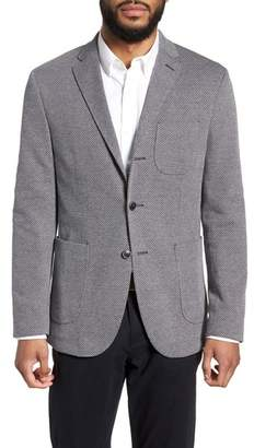 Sand Trim Fit Cotton Blend Blazer
