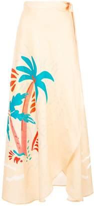 Onia asymmetric maxi skirt