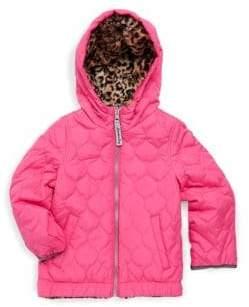 London Fog Baby Girl's Reversible Hooded Jacket