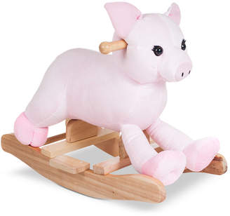 Trademark Global Happy Trails Hamlet Plush Rocking Pig