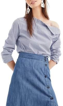 J.Crew J. CREW Side Button Chambray Skirt