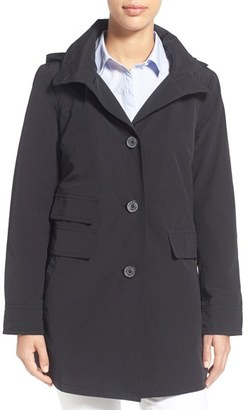 Women's Ellen Tracy A-Line Sailcloth Coat With Detachable Hood $148 thestylecure.com