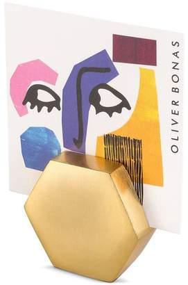 Oliver Bonas Gold Geo Hexagon Photo Holder