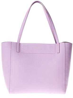 Salvatore Ferragamo Lilac Leather Tote Bag With Logo