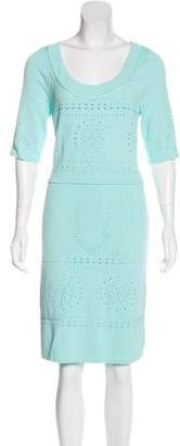 Blumarine Short Sleeve Knit Dress