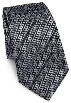 Emporio Armani Chevron Silk Tie