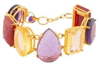 Bounkit Amethyst, Citrine & Sard Link Bracelet