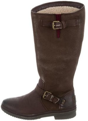 UGG Australia Suede Knee-High Boots $130 thestylecure.com