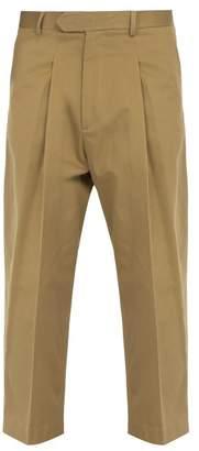 Haider Ackermann Straight Leg Cotton Trousers - Mens - Beige