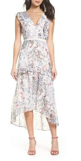 Print High/Low Midi Dress
