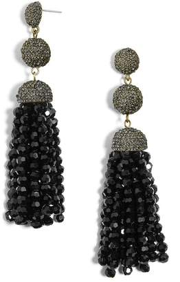 BaubleBar Tinsley Beaded Tassel Drop Earrings