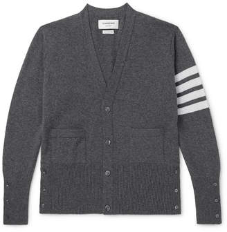 Slim-Fit Striped Cashmere Cardigan