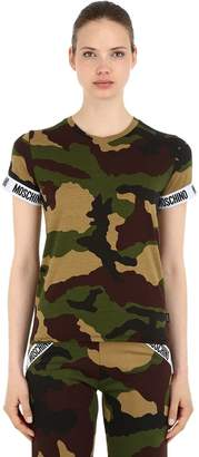 Moschino Camouflage Stretch Jersey T-Shirt