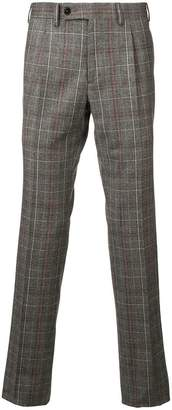 BEIGE Gabriele Pasini check pattern tailored trousers